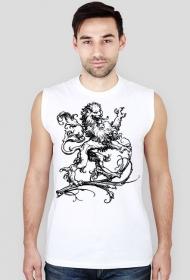 Koszulka męska bez rękawów (Lew6)