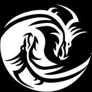Koszulka męska bez rękawów (Smoki Yin Yang)
