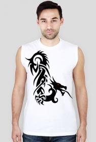 Koszulka męska bez rękawów (Smok7)