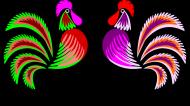 Koszulka damska (Koguty folk)