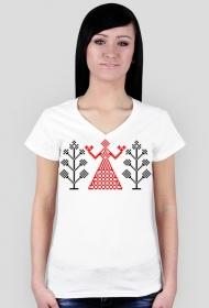 Koszulka damska (Haft ludowy)