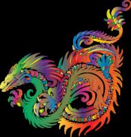 Koszulka damska (Smok Colorful)