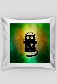 Poszewka na poduszkę (Kot z serduszkiem)