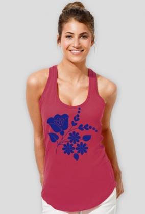 Koszulka damska na ramiączkach (Wzór ludowy)