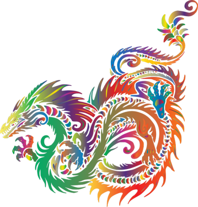 Koszulka damska na ramiączkach (Smok Colorful)