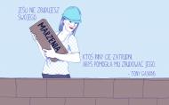 Naklejka na laptopa - dla freelancerki