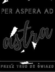 """Torba """"per aspera ad astra - przez trud do gwiazd"""""""