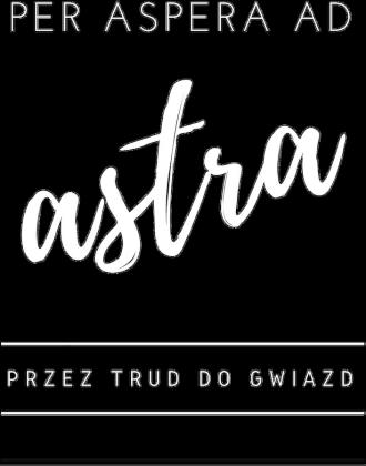"""Bluza """"Per aspera ad astra - przez trud do gwiazd"""" - czarna"""