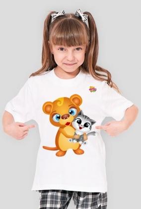 Tishi z kotkiem - koszulka dla dzieci