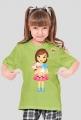 Dziewczynka z owieczką - koszulka dla dzieci