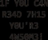 FrikSzop L33T Shirt męska czarne napisy