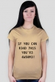 FrikSzop L33T Shirt damska czarne napisy