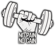 kubek NO PAIN NO GAIN