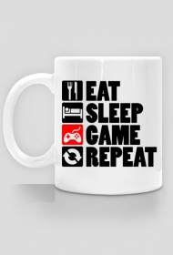 EAT, SLEEP, GAME, REPEAT - kubek