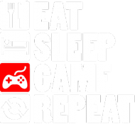 EAT, SLEEP, GAME, REPEAT - duży plecak