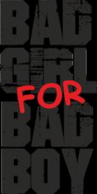 Bad girl for bad boy koszulka damska