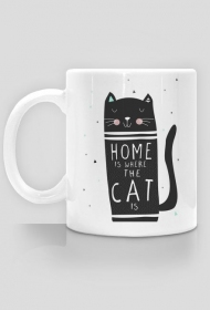 Home is where the cat is - kubek