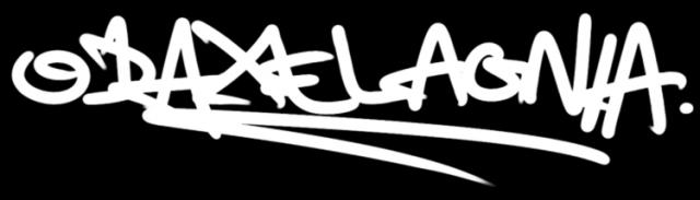 odaxelagnia graffiti logo (white)