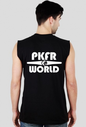 PKFR.WORLD Sleeveless Shirt (White logo on 2 sides)