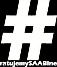 Ratujemy SAABine - duże logo białe