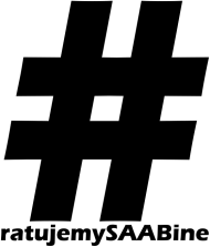 Damska Ratujemy SAABine - czarne logo