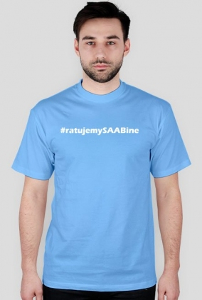 Ratujemy SAABine - małe logo białe