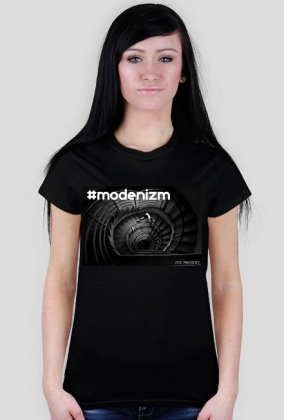 "T-shirt czarny ""#modernizm"""