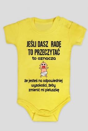 Fantastyczny Prezentovo - body dla niemowlaka - jeśli dasz radę - body GD32