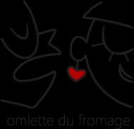 omlette du fromage - Koszulka Meska Czarne Logo