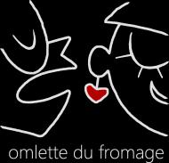 omlette du fromage - Koszulka Meska Biale Logo