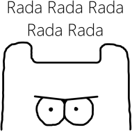 Rada Rada - Koszulka Damska Czarne Logo