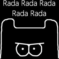 Rada Rada - Koszulka Meska Biale Logo