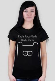 Rada Rada - Koszulka Damska Biale Logo