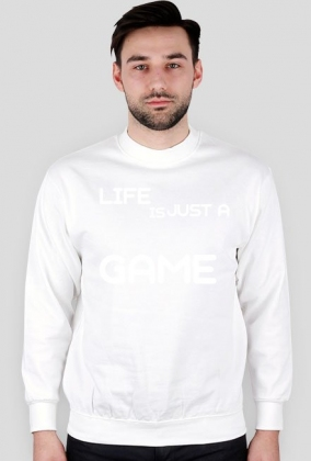 Bluza CZARNA - LIFE IS JUST A GAME
