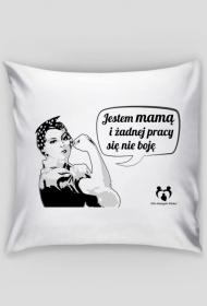 Poduszka jestem mamą czarno- biała