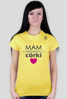 Koszulka mam najlepsze córki różne kolory