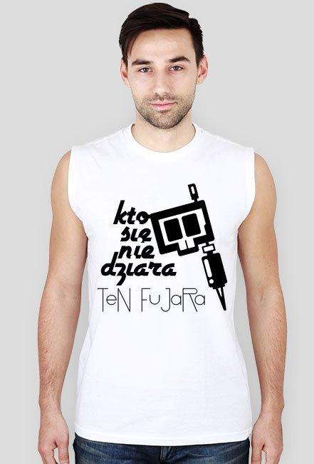 Koszulka bez rękawków KSNDTF White i Grey