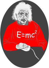 T-Shirt z nadrukiem Albert Einstein E=mc2