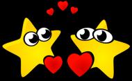 Pluszowy zajączek Zakochane gwiazdki