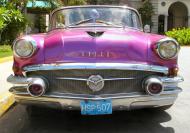 Kolorowa maseczka ochronna wielokrotnego uzytku Vintage car 30