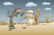 Kolorowa maseczka ochronna wielokrotnego uzytku Kot Ptak I Mysz