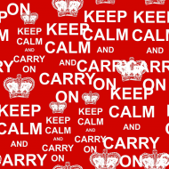Komin FullPrint KEEP CALM AND CARRY ON