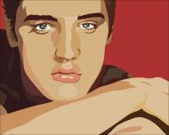 Kolorowa maseczka ochronna wielokrotnego uzytku Elvis Presley