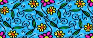 Kolorowy kubek Kwiatuszki i zawijasy