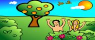 Kolorowy kubek Adam i Ewa