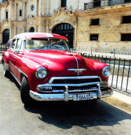 Mala poduszka jasiek full print Vintage American Car