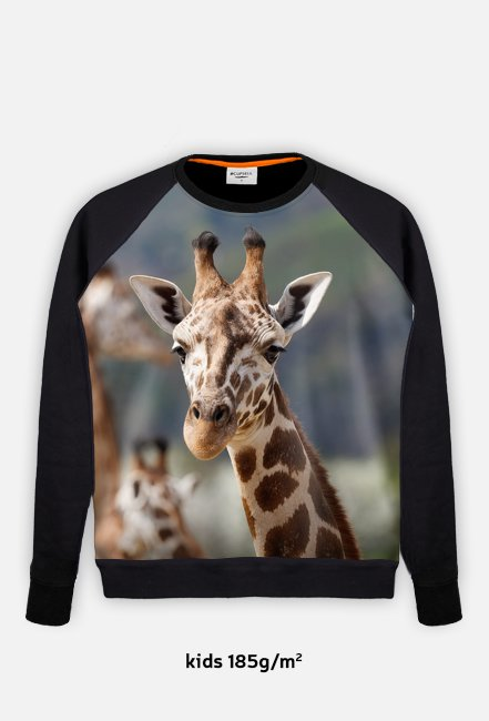Bluza Kids z nadrukiem Żyrafa