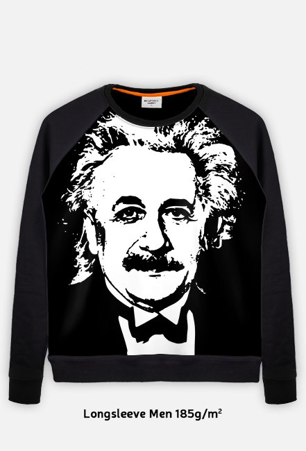 Bluza FullPrint męska 185g/m2 Albert Einstein