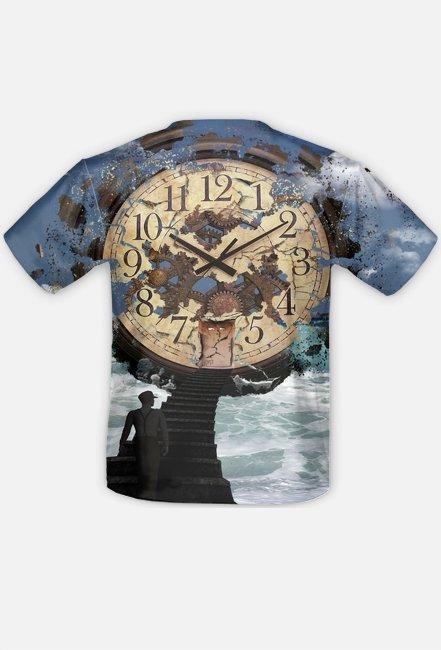 Koszulka FullPrint Kosmiczny zegar