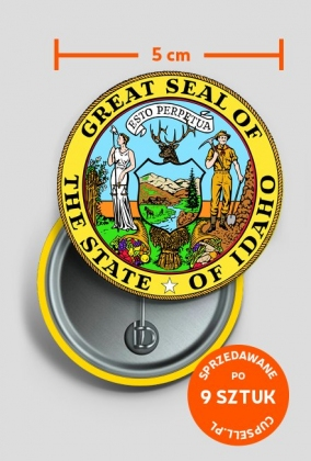 Duża przypinka Great Seal Of The State Of Idaho